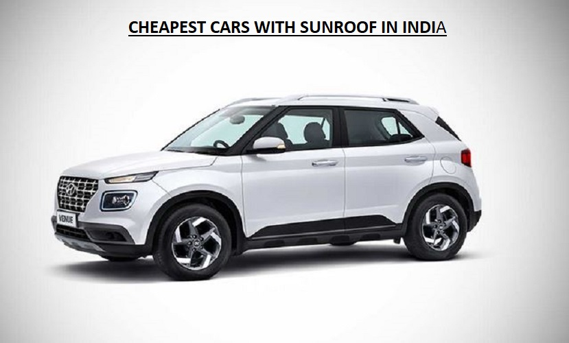 Cheapest cars with sunroof